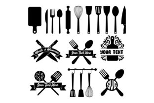 Download Free Kitchen Tool Set In Vector Silhouette Graphic By Grappix Studio for Cricut Explore, Silhouette and other cutting machines.