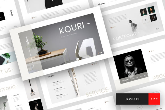 Download Free Kouri Minimal Powerpoint Template Graphic By Stringlabs for Cricut Explore, Silhouette and other cutting machines.