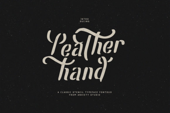 Print on Demand: Leatherhand Display Font By lickermelody