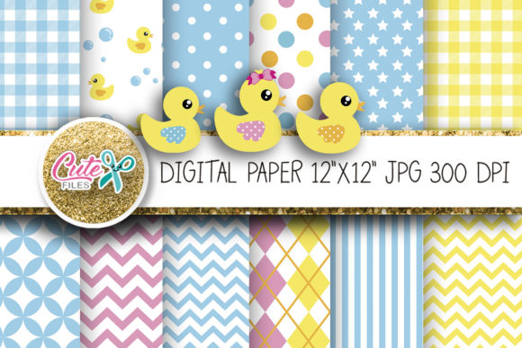 Little Duck Paper Graphic Textures By Cute files