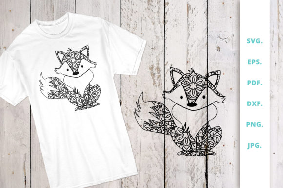 Download Free Mandala Cute Fox Graphic By Sintegra Creative Fabrica for Cricut Explore, Silhouette and other cutting machines.