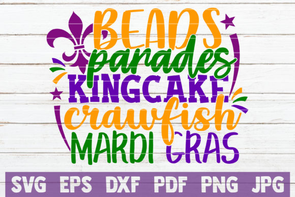 Download Free Mardi Gras Bundle Graphic By Mintymarshmallows Creative Fabrica for Cricut Explore, Silhouette and other cutting machines.