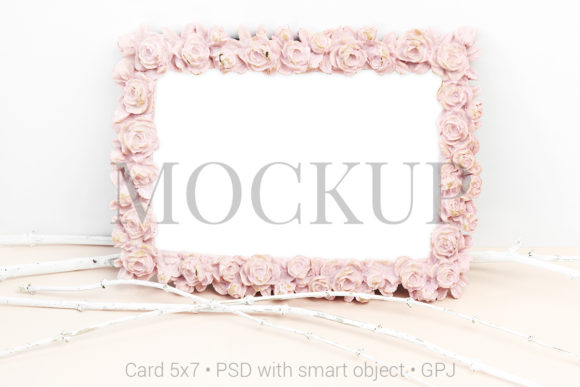 Print on Demand: Mockup Photo with White Branches Graphic Product Mockups By PawMockup