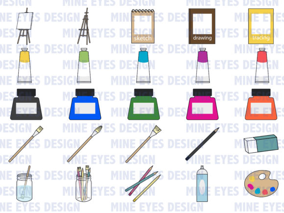 Print on Demand: Painting and Drawing Clipart Graphic Illustrations By Mine Eyes Design - Image 2