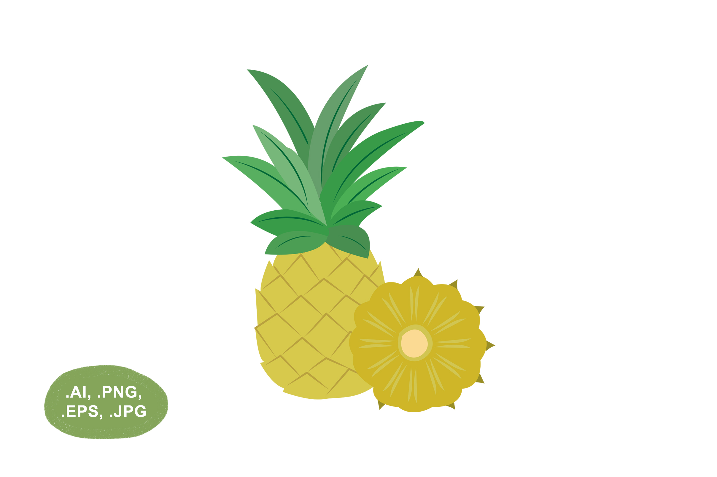 Download Free Pineapple Fruit Vector Illustration Graphic By Salfiart for Cricut Explore, Silhouette and other cutting machines.