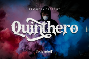 Print on Demand: Quinthero Blackletter Font By fachranheit