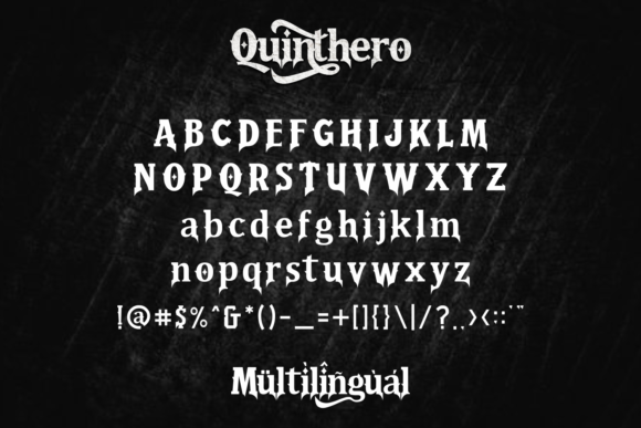 Print on Demand: Quinthero Blackletter Font By fachranheit - Image 10