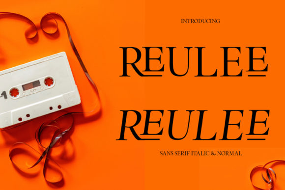 Print on Demand: Reulee Sans Serif Font By ed.creative