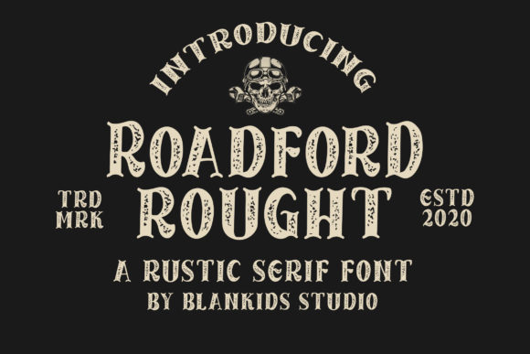 Print on Demand: Roadford Rought Serif Font By Blankids Studio - Image 1