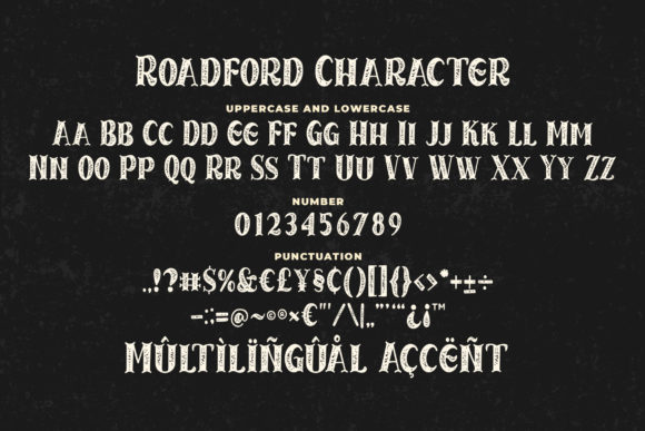 Print on Demand: Roadford Rought Serif Font By Blankids Studio - Image 6