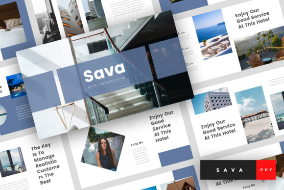 Download Free Sava Hotel Powerpoint Template Graphic By Stringlabs SVG Cut Files