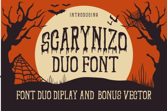 Print on Demand: Scarynizo Display Font By EKNOJI