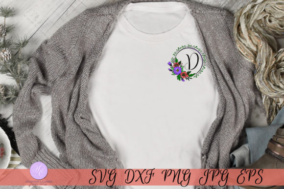 Download Free Script Letter D Monogram Graphic By Shannon Casper Creative for Cricut Explore, Silhouette and other cutting machines.