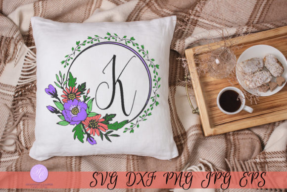 Download Free Script Letter K Monogram Graphic By Shannon Casper Creative for Cricut Explore, Silhouette and other cutting machines.