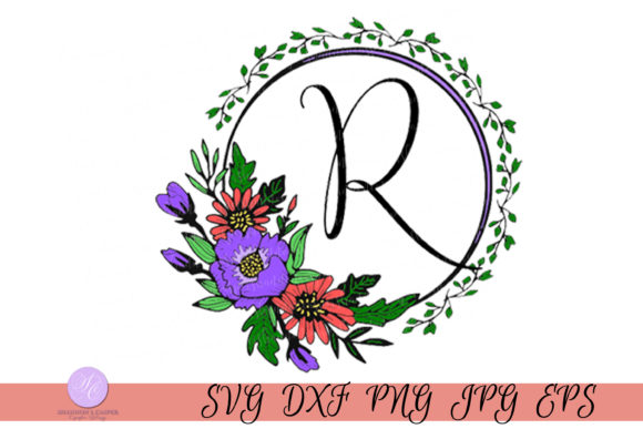 Download Free Script Letter R Monogram Graphic By Shannon Casper Creative for Cricut Explore, Silhouette and other cutting machines.