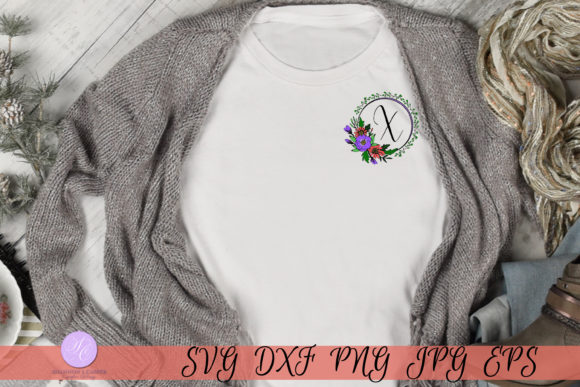 Download Free Script Letter X Monogram Graphic By Shannon Casper Creative for Cricut Explore, Silhouette and other cutting machines.