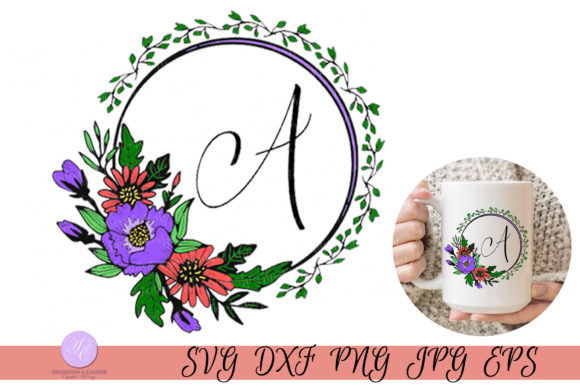 Print on Demand: Script Letter a Monogram Graphic Illustrations By Shannon Casper