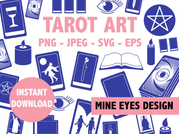 Print on Demand: Tarot Gráfico Crafts Por Mine Eyes Design