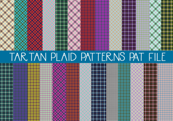Print on Demand: Tartan Plaid PAT File Graphic Actions & Presets By capeairforce