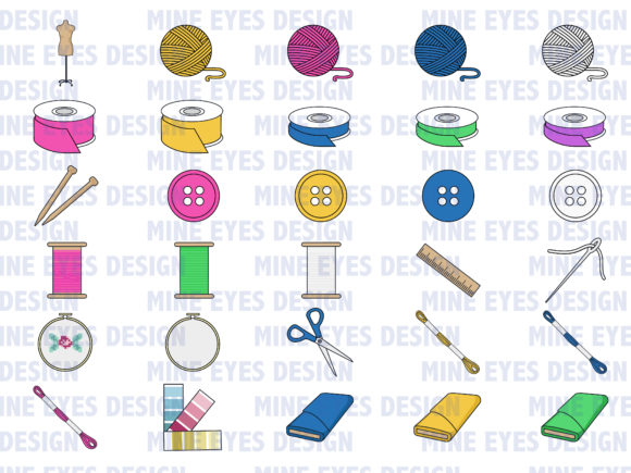 Print on Demand: Textiles Clipart Graphic Icons By Mine Eyes Design - Image 2