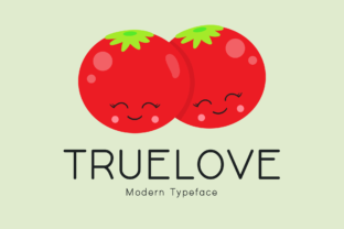 Print on Demand: Truelove Display Font By Instagram Fonts 1