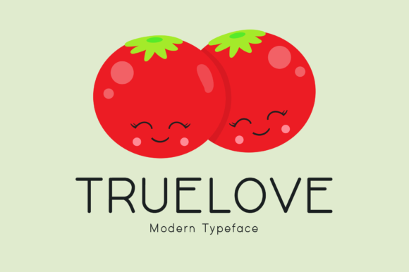 Print on Demand: Truelove Display Font By Instagram Fonts