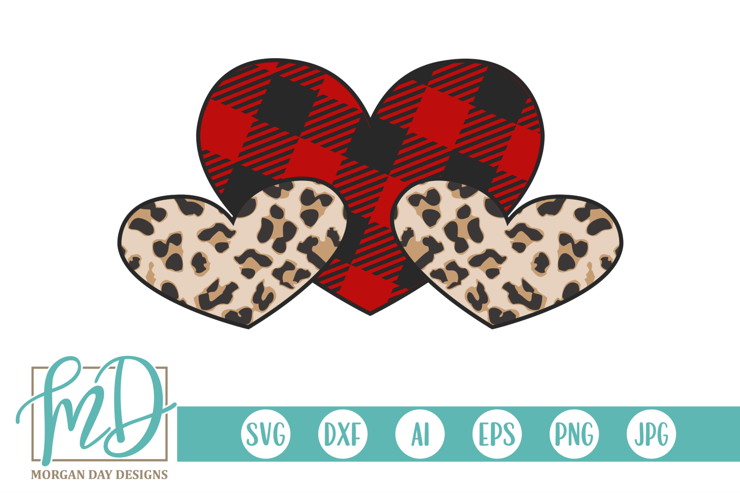 Download Free Valentin Buffalo Plaid Leopard Heart Graphic By Morgan Day for Cricut Explore, Silhouette and other cutting machines.