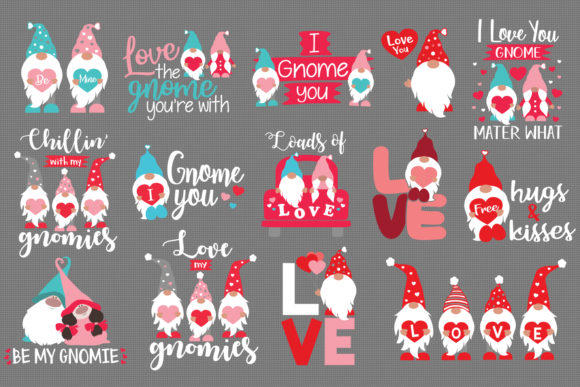 Valentine S Gnome Bundle Graphic By All About Svg Creative Fabrica