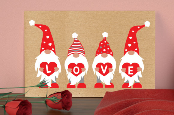 Valentine's Gnome Bundle Graphic Crafts By All About Svg - Image 8