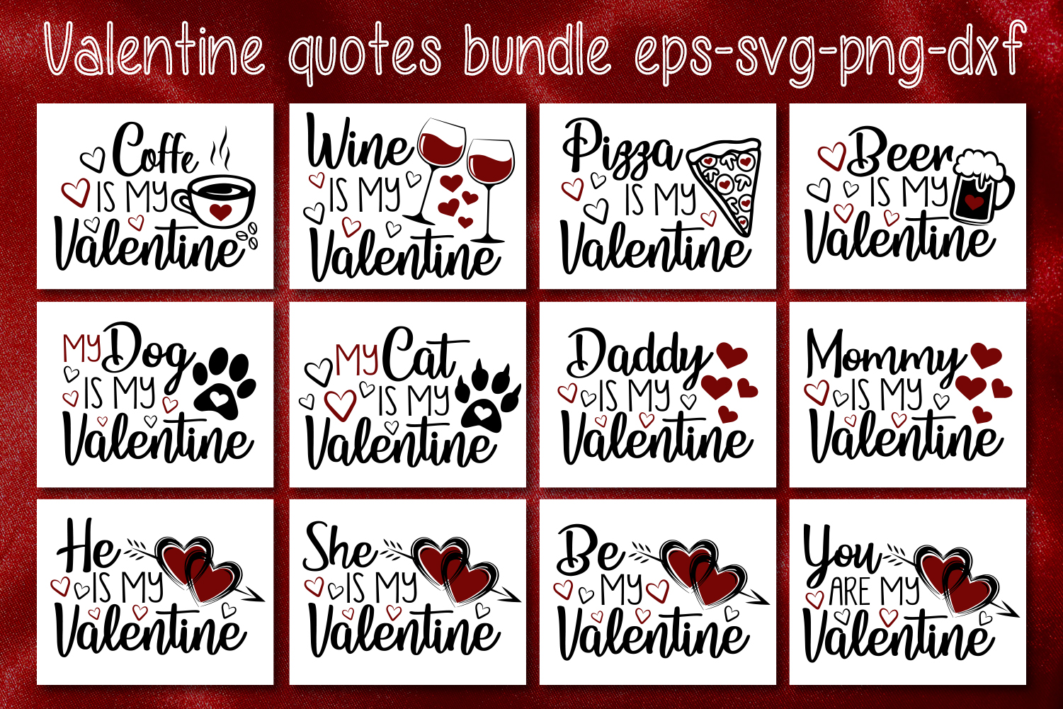 Download Free Valentine S Quotes Bundle Graphic By All About Svg Creative Fabrica for Cricut Explore, Silhouette and other cutting machines.