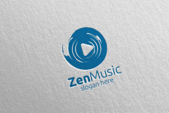 Zen Music Logo with Zen and Play Concept Graphic Logos By denayunecf - Image 3