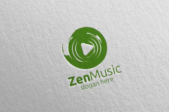 Zen Music Logo with Zen and Play Concept Graphic Logos By denayunecf - Image 5