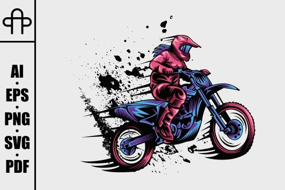 Print on Demand: Girl Motocross Graphic Illustrations By Andypp