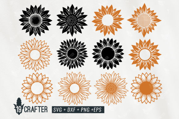 Download Free Sunflower Craft Quality Detail Bundle Graphic By Great19 for Cricut Explore, Silhouette and other cutting machines.