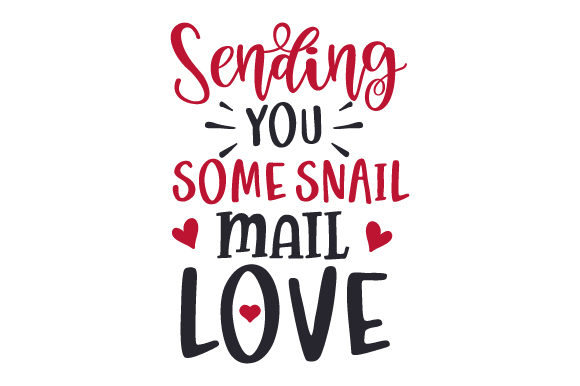 Download Free Sending You Some Snail Mail Love Svg Cut File By Creative for Cricut Explore, Silhouette and other cutting machines.