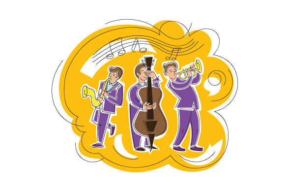Download Free Jazz Band Performing Svg Cut File By Creative Fabrica Crafts for Cricut Explore, Silhouette and other cutting machines.