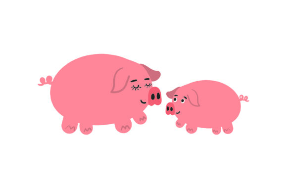 Download Free Mom And Baby Pigs Svg Cut File By Creative Fabrica Crafts for Cricut Explore, Silhouette and other cutting machines.
