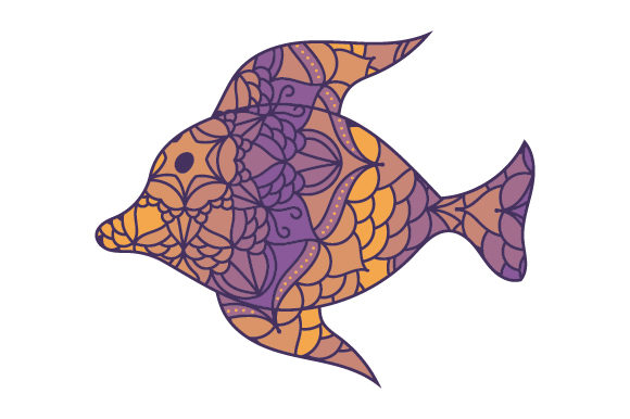 Download Free Fish In Mandala Style With Color Svg Cut File By Creative for Cricut Explore, Silhouette and other cutting machines.
