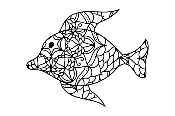 Fish in Mandala Style with Color Animals Craft Cut File By Creative Fabrica Crafts - Image 2