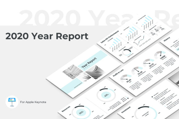 2020 Year Report Keynote Template Graphic By Jetztemplates
