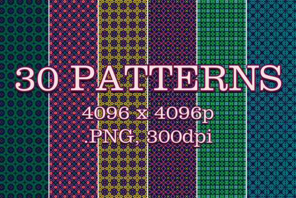 30 Patterns Graphic Patterns By vessto