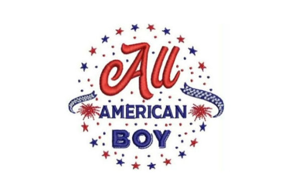 All American Boy Independence Day Embroidery Design By Embroidery Designs - Image 1