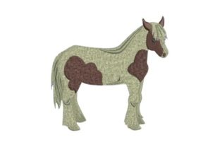 American Heavyweight Horse Horses Embroidery Design By Embroidery Designs