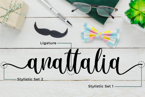 Download Free Anattalia Font By Blankcraft Co Creative Fabrica for Cricut Explore, Silhouette and other cutting machines.