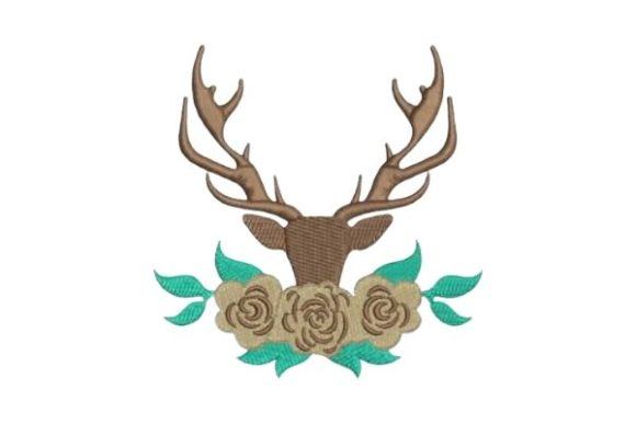 Antlers Woodland Animals Embroidery Design By Embroidery Designs - Image 1