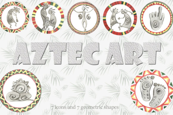Print on Demand: Aztec Art Graphic Illustrations By laffresco04