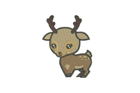 Baby Deer Cartoon Baby Animals Embroidery Design By Embroidery Designs