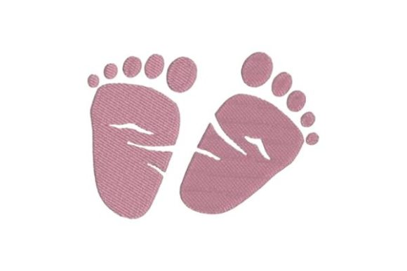 Baby Feet Nursery Embroidery Design By Embroidery Designs - Image 1