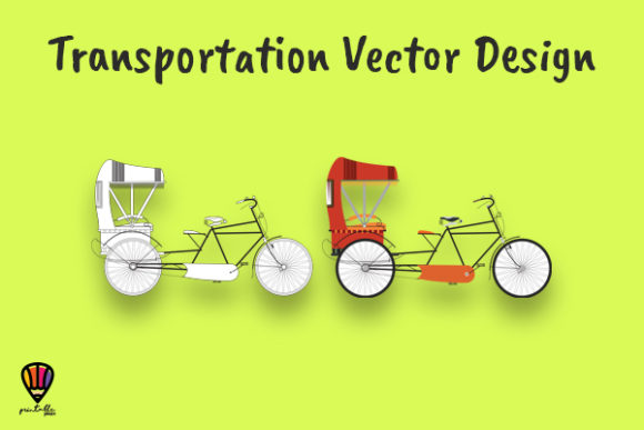 Becak Vector Illustration Graphic Illustrations By printablesplazza