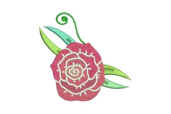 Big Flower Single Flowers & Plants Embroidery Design By Embroidery Designs